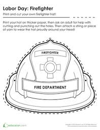 fireman hat coloring pages funycoloring