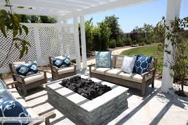 Restoration Hardware Fire Pit by Picture Of Outdoor Pergola And Fire Pit The Sunny Side Up Blog