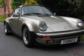 old porsche spoiler 930 turbo 1986 white gold 911 turbo classic car in uk