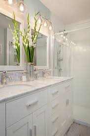 Traditional Bathroom Lighting Fixtures Backsplash Detail Above Vanity Steveston Townhouse Traditional