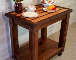 Kitchen Side Table Coffee Bar Furniture Etsy