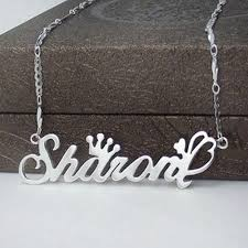 name necklace silver jewelry images Letter necklace name necklaces pendants 925 silver jewelry jpg