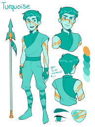 blue opal gemsona turquoise gemsona by kaitexel on deviantart