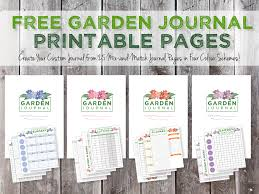 printable planner diary green in real life garden journaling and planning free journal