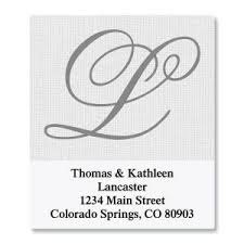 monogram address labels initial labels current catalog