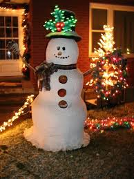decor i made this snowman out of spray foam