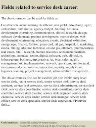 Service Desk Officer Top 8 Service Desk Resume Sles