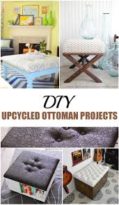 diy upcycled home decor 11 upcycled diy ottoman projects picky stitch
