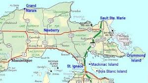 up michigan map map of eastern peninsula of michigan mi