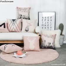 taie d oreiller pour canapé style nordique décoratif coussins cas cerfs géométrique