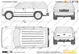 the blueprints com vector drawing ford explorer