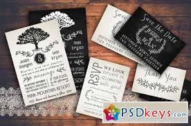 wedding invitations psd rustic wedding invitation pack 128815 free photoshop