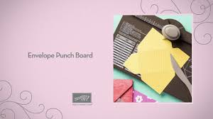 envelope punch board youtube