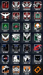Rainbow Six Siege Operators In I Made Rainbow Six Siege Operator Style Icons For My On