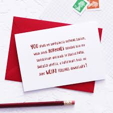 Ruby Anniversary Invitation Cards Physiological Reaction Funny Valentine U0027s Day Card Rude