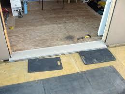 Laminate Floor Door Threshold Patio Doors Sealing Under Door Threshold Best Technique Enverso
