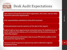 Desk Audit The Next Generation Of The Hipaa Hitech Audits 2014 Compliance Insti U2026