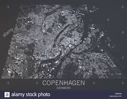 Copenhagen Map Copenhagen Map Satellite View Denmark Stock Photo Royalty Free