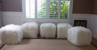 mongolian lamb fur lucite and mongolian fur benches chairs and