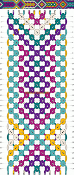 bracelet pattern images Normal friendship bracelet pattern 4242 gif