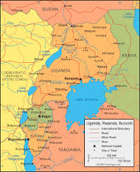 geographical map of kenya uganda map and satellite image
