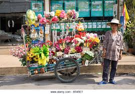 flower cart hawking cart sell selling stock photos hawking cart sell selling