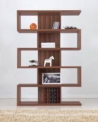Ark Bookshelf by Lennoir 5 Shelf Display Stand Bookcase Walnut Finish Amazon Ca