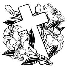 easter lilies coloring page coloring sheets cross coloring pages