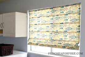 Roman Shades Over Wood Blinds Easy Diy No Sew Roman Shades Fun Cheap Or Free