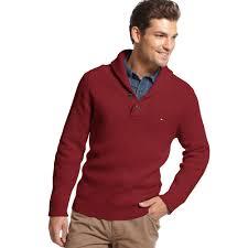 hilfiger sweater mens lyst hilfiger adler shawl collar sweater in for