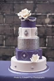 purple and silver wedding purple silver wedding cake designs three tier square white