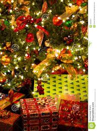 gifts under christmas tree stock images image 3235364