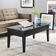 Marble Living Room Tables Dorel Living Faux Marble Lift Top Storage Coffee Table