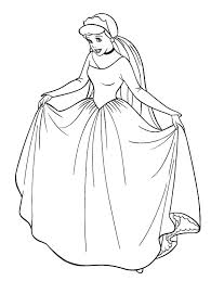 cinderella wedding dress cinderella coloring