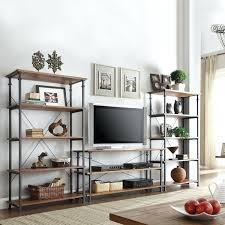 Industrial Pipe Bookcase Tv Stand Explore Industrial Pipe Shelves Pipe Shelving And More