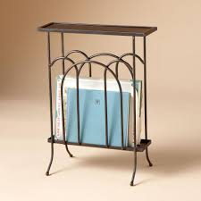 End Table Lamp Combo Table Scenic Wrought Iron Magazine Side Table A Slim With End Rack