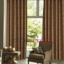 Brown Floral Curtains Gorgeous Energy Saving Floral Printed Brown Curtains Buy Brown