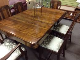 dining room set table and 6 chairs freshly upholstered seats