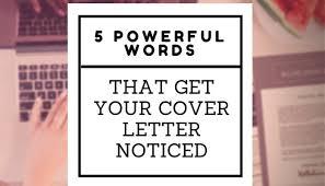Strong Words For Cover Letter cover letter words fishingstudio
