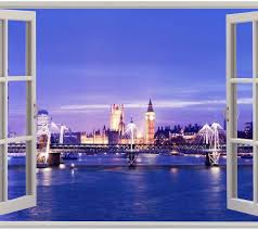 window london view wall stickers film mural art decal wallpaper window london view wall stickers film mural art decal wallpaper ebay