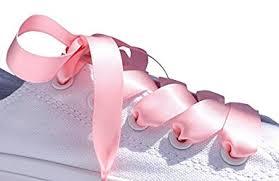 ribbon shoelaces pink flat satin ribbon shoelaces shoe laces ideal