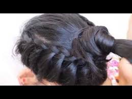 pakistan hair style video simple hair style for party wedding saree gown hairstyle braid