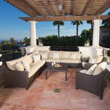 large deep sectional sofas 25 awesome modern brown all weather outdoor patio sectionals