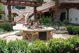 Rustic Backyard Garden Learning More Better For Stone Fire Pit Kit Canada