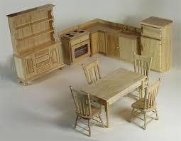 pine kitchen dolls house furniture set dolls house - Dolls House Kitchen Furniture