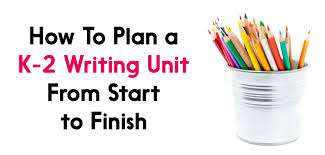from start to finish planning k 2 writing units the tpt blog