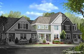duplex plans with garage in middle homes heritage creek