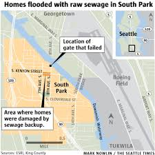seattle flood map sewage backup keeps residents out of south park homes for weeks
