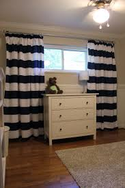 White And Navy Striped Curtains Diy Nursery Curtains Striped Curtains Duvet And Navy Stripes