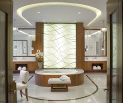 Contemporary Bathroom Appealing Contemporary Bathroom With Elegant Ceiling Design Idea